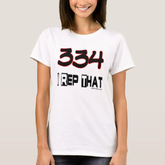 I Rep That 334 Area Code T-Shirt