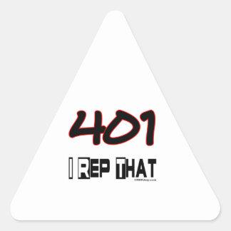 I Rep That 401 Area Code Triangle Sticker