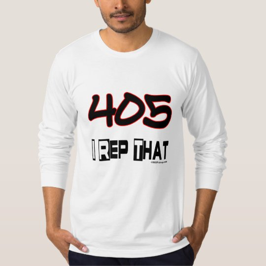 I Rep That 405 Area Code T-Shirt