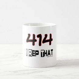 I Rep That 414 Area Code Coffee Mug