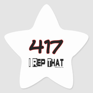 I Rep That 417 Area Code Star Sticker
