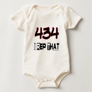 I Rep That 434 Area Code Baby Bodysuit