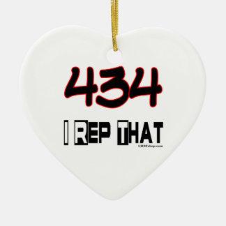 I Rep That 434 Area Code Ceramic Ornament