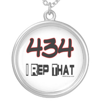 I Rep That 434 Area Code Necklaces