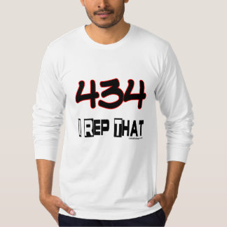 I Rep That 434 Area Code T-Shirt