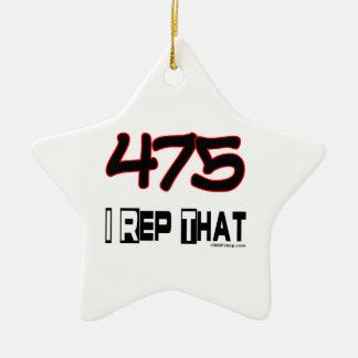 I Rep That 475 Area Code Ornaments