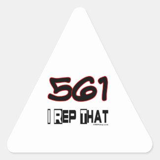 I Rep That 561 Area Code Triangle Sticker