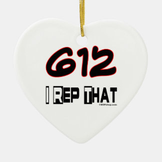 I Rep That 612 Area Code Christmas Ornaments