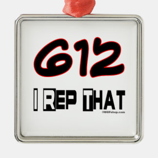 I Rep That 612 Area Code Christmas Tree Ornaments