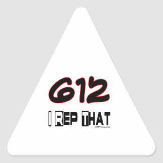 I Rep That 612 Area Code Stickers