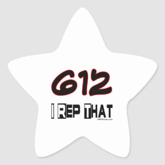 I Rep That 612 Area Code Star Stickers