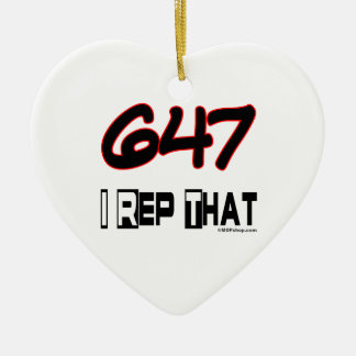I Rep That 647 Area Code Christmas Ornaments