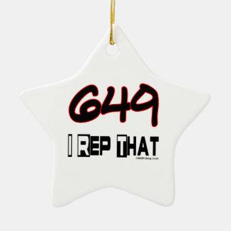 I Rep That 649 Area Code Christmas Ornament