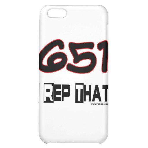 I Rep That 651 Area Code iPhone 5C Case