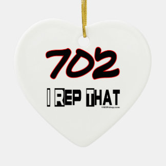 I Rep That 702 Area Code Christmas Ornaments