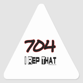I Rep That 704 Area Code Triangle Sticker