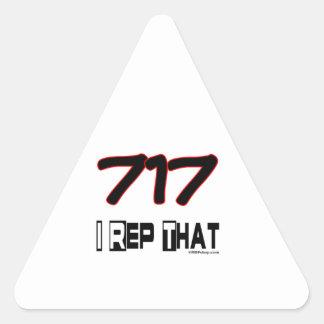 I Rep That 717 Area Code Triangle Sticker