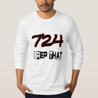 I Rep That 724 Area Code T-Shirt