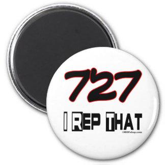 I Rep That 727 Area Code Fridge Magnet