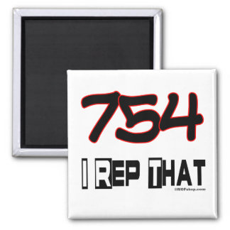 I Rep That 754 Area Code Magnet