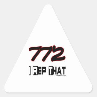 I Rep That 772 Area Code Triangle Sticker