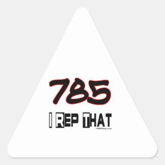 I Rep That 785 Area Code Triangle Sticker