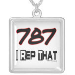 I Rep That 787 Area Code Custom Necklace