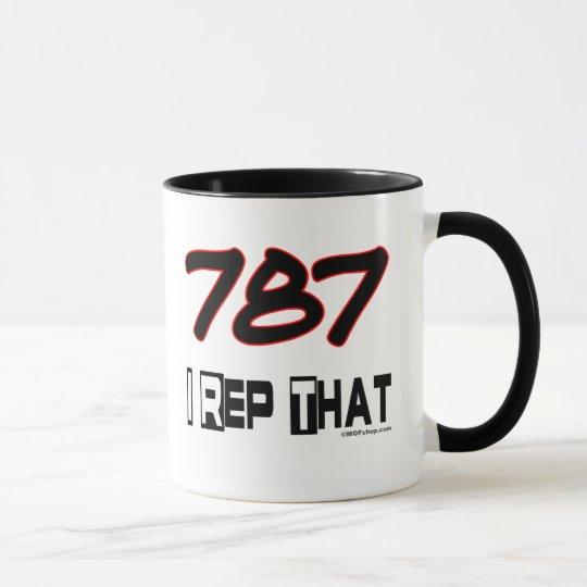 I Rep That 787 Area Code Mug