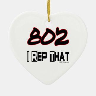 I Rep That 802 Area Code Ceramic Ornament