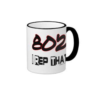 I Rep That 802 Area Code Ringer Mug