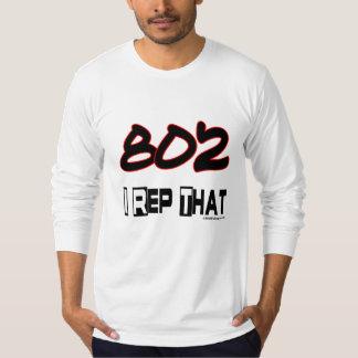 I Rep That 802 Area Code Tee Shirt