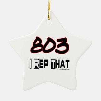 I Rep That 803 Area Code Ceramic Ornament