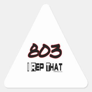 I Rep That 803 Area Code Triangle Sticker