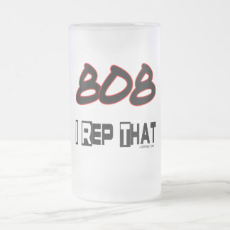 I Rep That 808 Area Code Frosted Glass Beer Mug