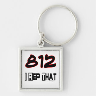 I Rep That 812 Area Code Key Chains
