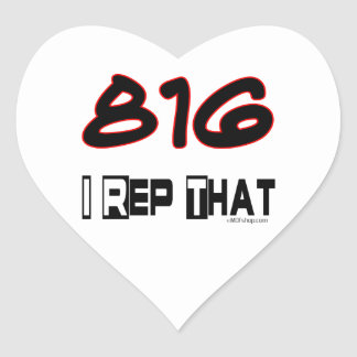 I Rep That 816 Area Code Heart Sticker