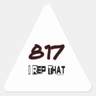 I Rep That 817 Area Code Triangle Sticker