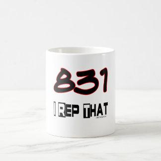 I Rep That 831 Area Code Coffee Mug