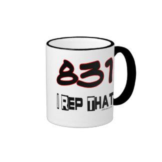 I Rep That 831 Area Code Ringer Mug