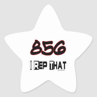 I Rep That 856 Area Code Star Sticker