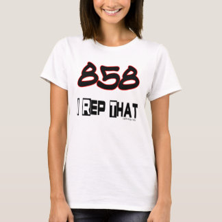 I Rep That 858 Area Code T-Shirt