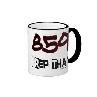 I Rep That 859 Area Code Ringer Mug