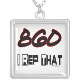I Rep That 860 Area Code Silver Plated Necklace