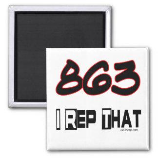 I Rep That 863 Area Code Fridge Magnet