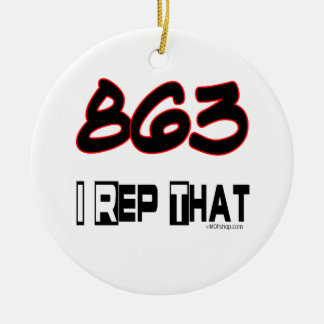 I Rep That 863 Area Code Christmas Ornaments