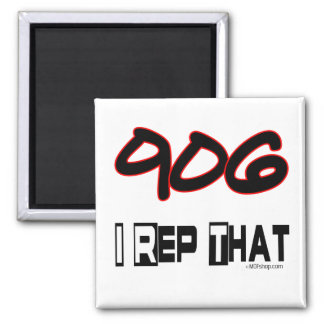I Rep That 906 Area Code 2 Inch Square Magnet