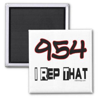 I Rep That 954 Area Code Fridge Magnet