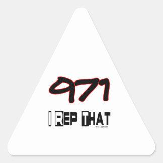 I Rep That 971 Area Code Triangle Sticker