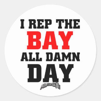 I Rep The Bay Classic Round Sticker