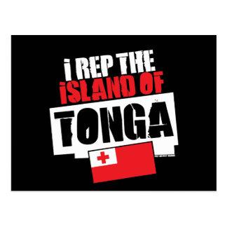 I Rep TONGA Postcard